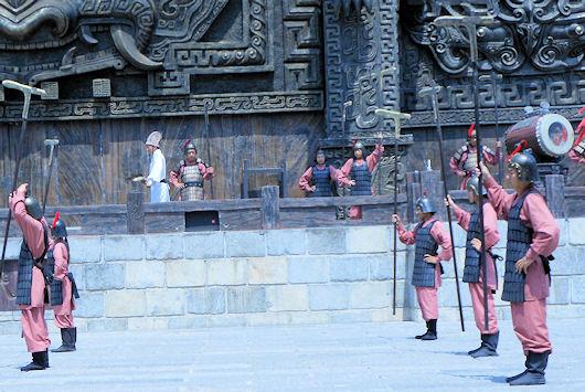 赤壁古戦場|神武台と周愉閲兵